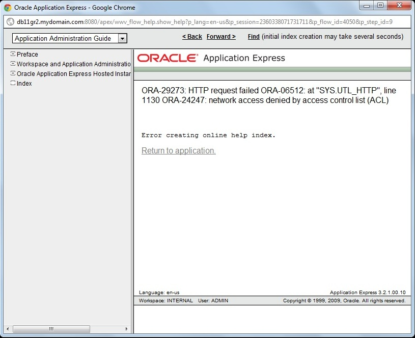 configure apex in oracle database 11gr2 oracle apps notes rh oracleappsnotes wordpress com Oracle 10G Oracle 10G