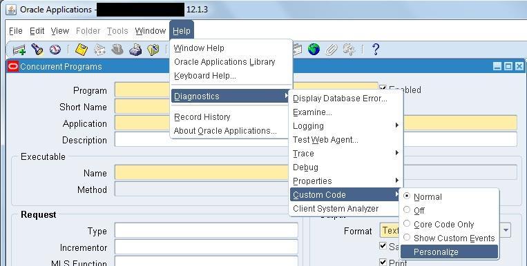 Form Personalization | Oracle Apps Notes