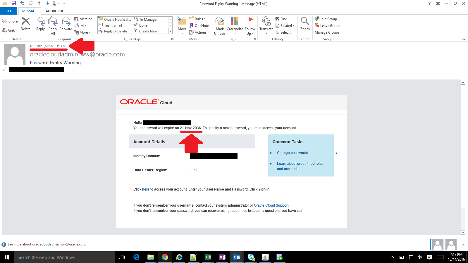 oracle patch  password